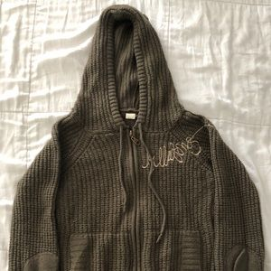 Billabong Hooded Knit Sweater Size M